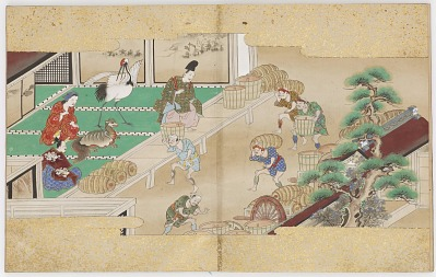 Tale of the Crane and Tortoise, Pine, and Bamboo (one of a three-volume set with F1989.61 and F1989.63)