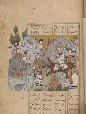 Bahram Gur wins the crown, from a <em>Shahnama</em> (Book of kings) by Firdawsi