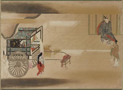 Man and woman conversing across the verandah