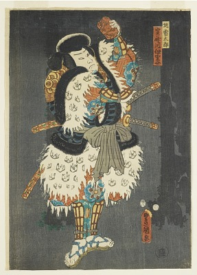 Kabuki actor in role of <em>Jirai Taro (^j^)</em> (one of a diptych with F1978.73)