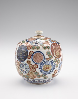 Arita ware covered jar