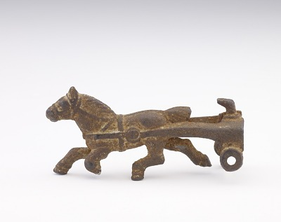 Horse and fragment of a cart