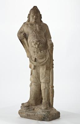 Standing figure of Vajrapani (guardian king)