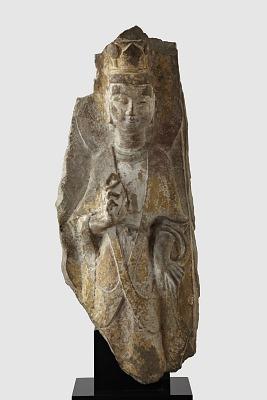 Fragment of standing Bodhisattva