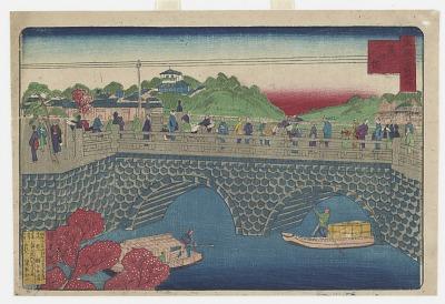 Mansei Bridge And Cherry Blossoms