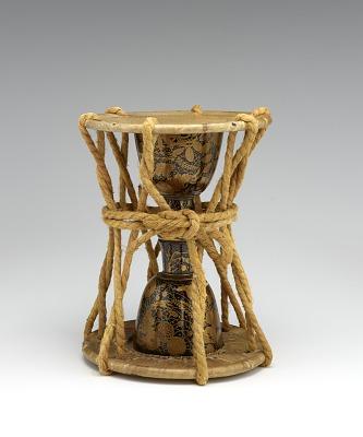 Hand-drum (o-tsuzumi) for Noh music