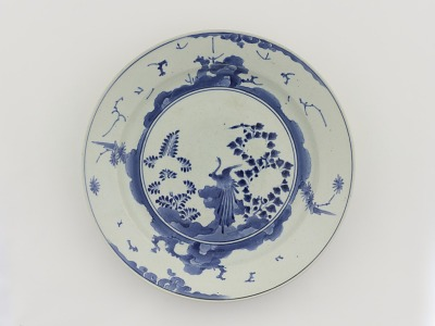 Dish with unfinished enamel decoration