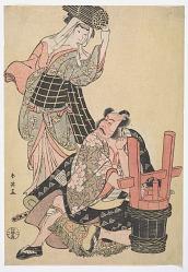Four Kabuki actors