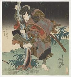 Surimono: Kabuki actors