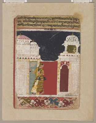 A Wife awaiting her husband's return: an illustration from the Amarusataka