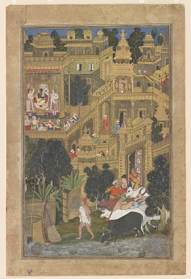 <em>Krishna and the Golden City of Dwarka</em>from the <em>Harivamsha</em> (Geneology of Vishnu)