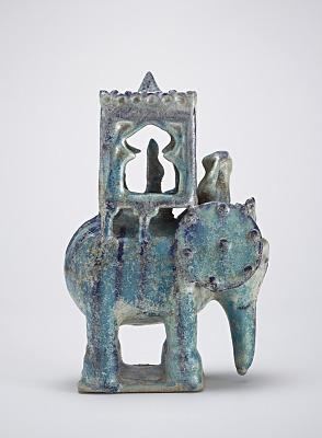 Elephant with howdah and figure