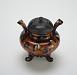 3/4 profile: Hirasa ware incense burner
