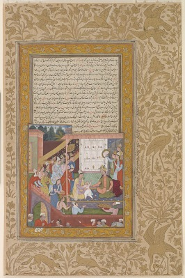 <em>Young Akbar Recognizes His Mother</em>from an<em>Akbarnama</em>
