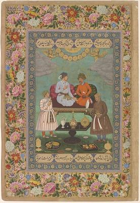 <em>Jahangir Entertains Shah Abbas </em>from the <em>St. Petersburg Album</em>