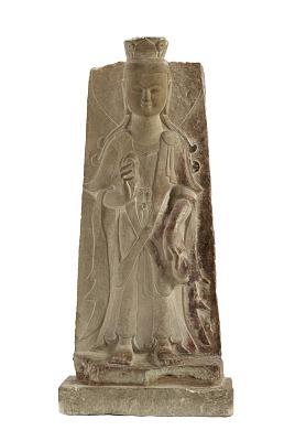 Standing figure of a bodhisattva