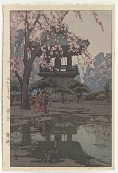 Bell temple, from the series Eight Scenes of Cherry Blossoms
