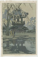 Bell Tower, from the series Eight Scenes of Cherry Blossoms