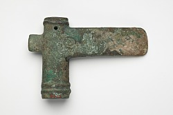 Socketed axe with geometric decoration