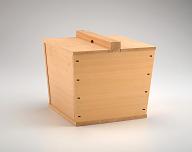 Joined-wood freshwater container (tsurube mizusashi)
