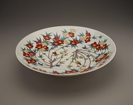 Bowl with design of rhododendron