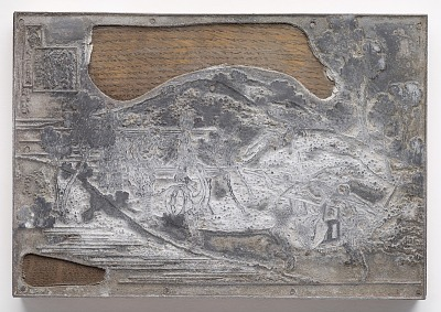 Metal-cut of Print No. 8 in reduced scale after Drawing No. 8 by Hokusai