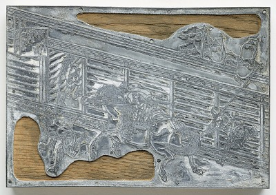 Metal-cut of Print No. 99 in reduced scale after Drawing No. 99 by Hokusai (1760-1849)