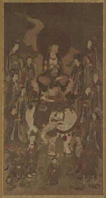 The Bodhisattva Fugen and Attendants