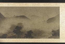 Landscape: mountains in mist