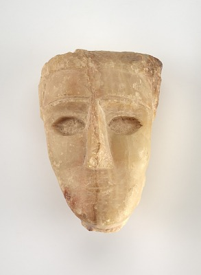 Human head, fragment