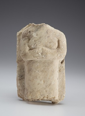 Stela with torso of a woman, fragment