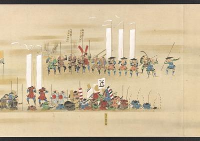 The Battle of Nagashino (Nagashino Gassen), one of a pair with F1975.26