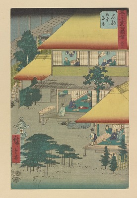 No. 52 Ishibe: Guests at the Inn from the series Pictures of Famous Places of the Fifty-three Stations