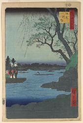 Oumayagashi from the series One Hundred Famous Views of Edo