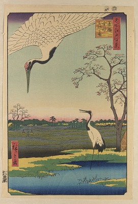 Minowa, Kanasugi and Mikawashima from the series One Hundred Famous Views of Edo