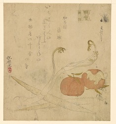Surimono: Famous products of the Eastern Capital (Edo)