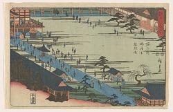 Horinouchi Myohoji soshi mode, from the series, Famous Places of Edo