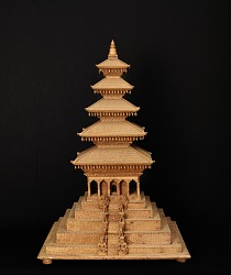 Model of a wooden pagoda