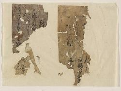 Fragments found inside Standing Buddha (F71.6a)
