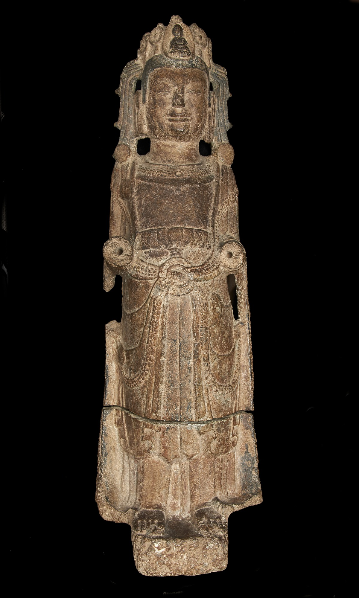 images for Standing figure of Bodhisattva: both hands missing, and minor injuries