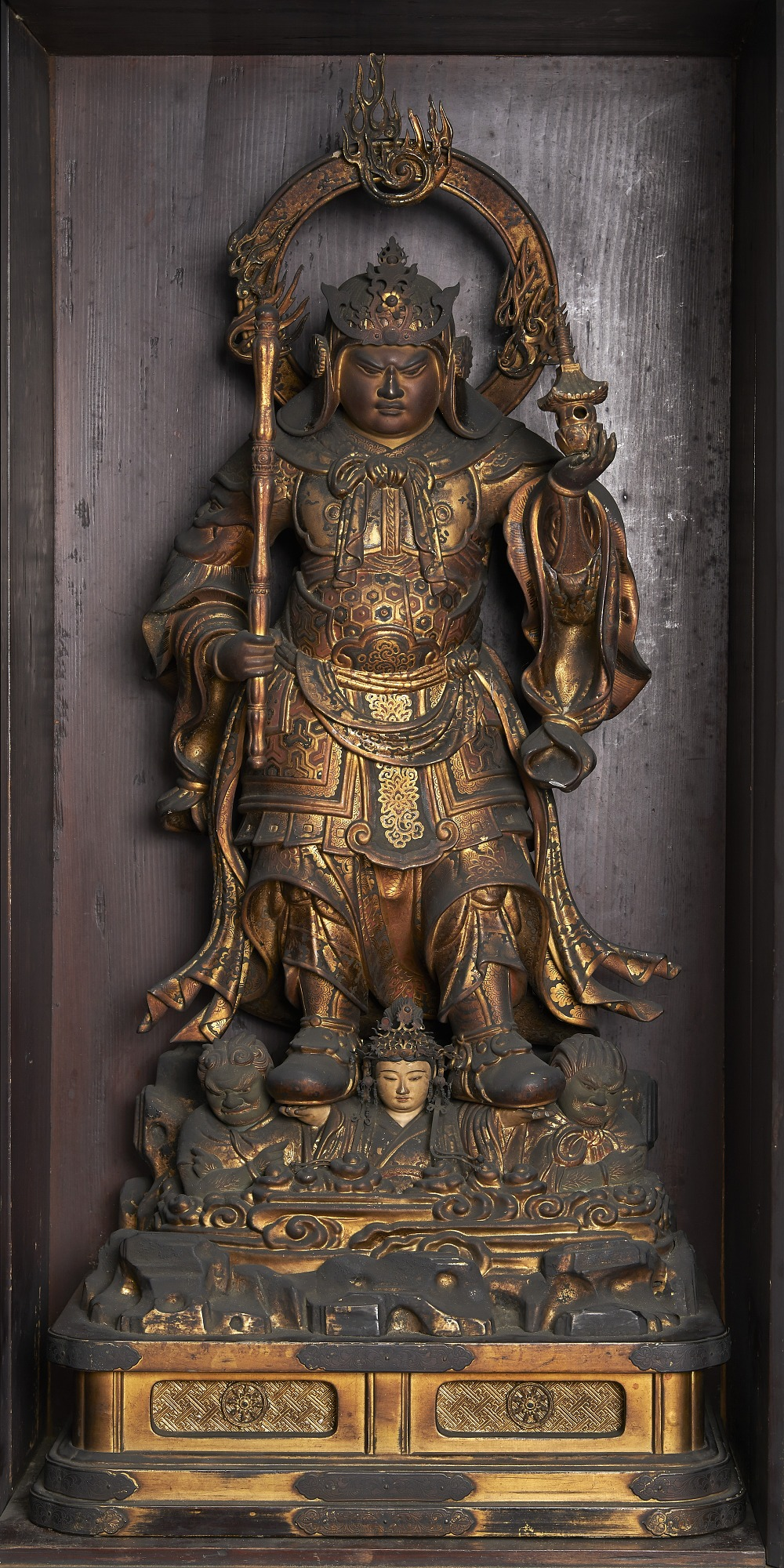 Figure: within a closed shrine