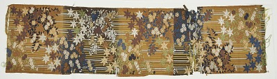 Silk, karaori, - fragment of a No robe