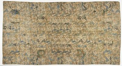 Silk brocade: a Buddhist monk's robe, patched; kesa 袈裟