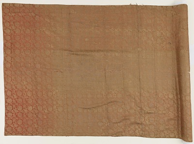 Brocade, silk. A priest's robe, patched: Kesa