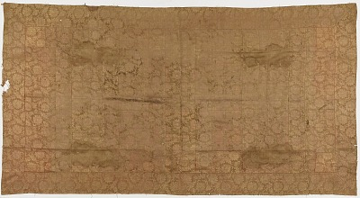 Brocade, silk. A Buddhist monk's robe, patched: Kesa
