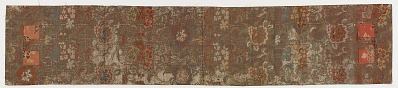 Brocade, silk. Buddhist monk's stole. Ohi