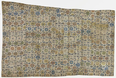 Brocade, silk. A Buddhist monk's robe, patched; kesa