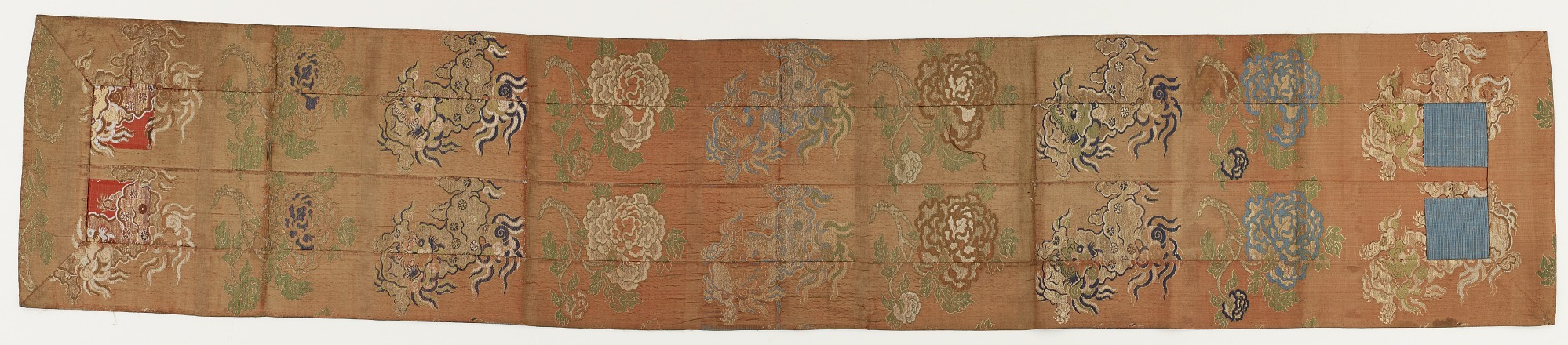 Brocade, silk. Buddhist monk