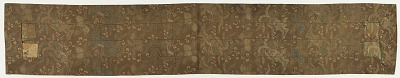 Brocade, silk. Buddhist monk's stole (ohi 被)