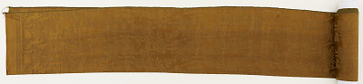 Brocade, silk, a strip of